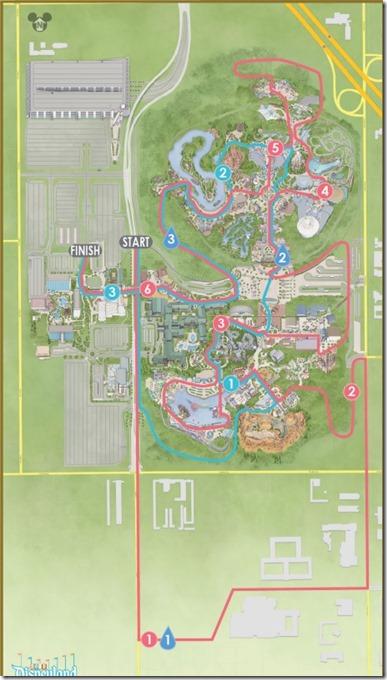 disneyland 10k course map