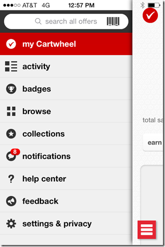 cartwheel list