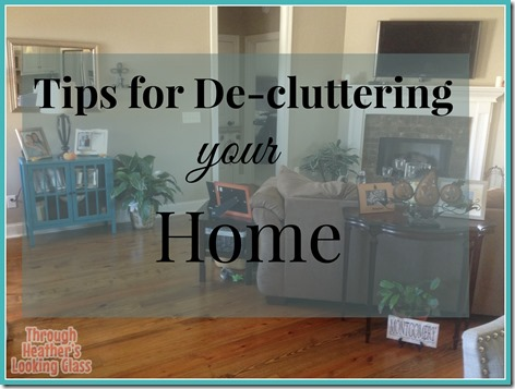tips for decluttering home